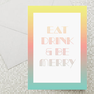 Eat Drink Merry card