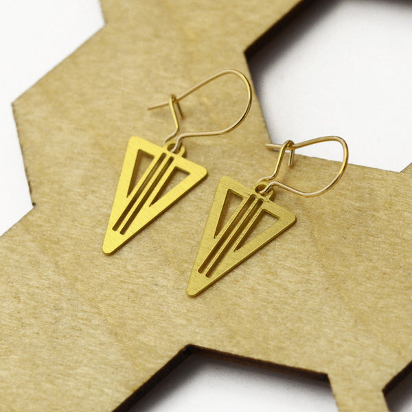 Gezi Brass Earrings