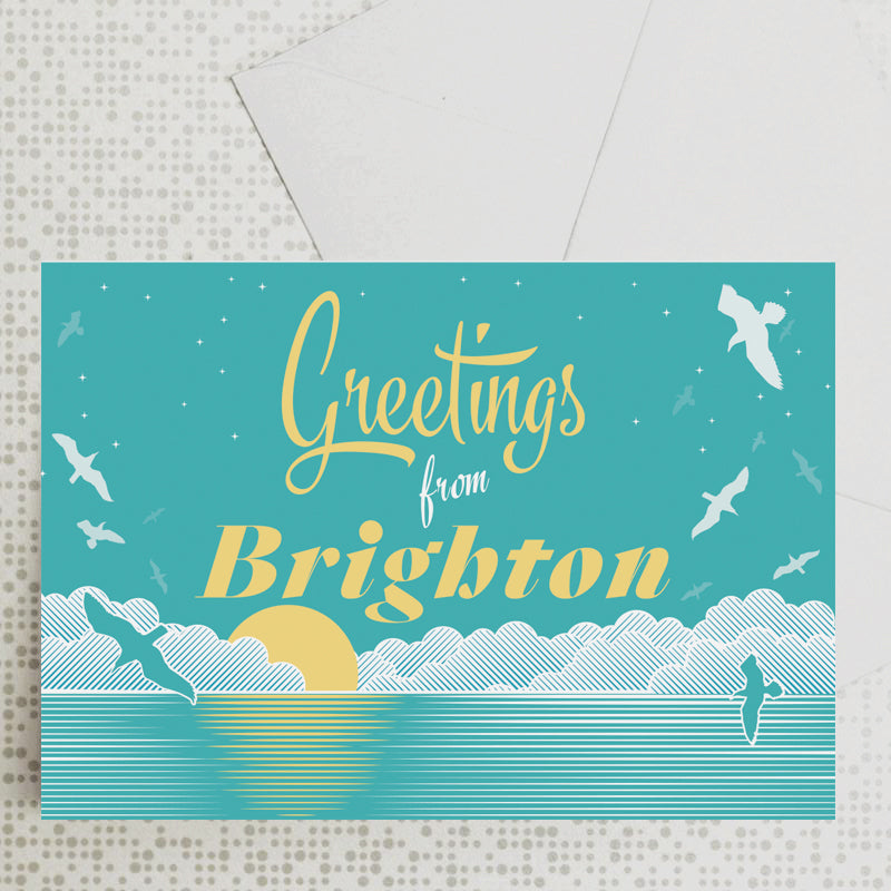 Greetings from Brighton card