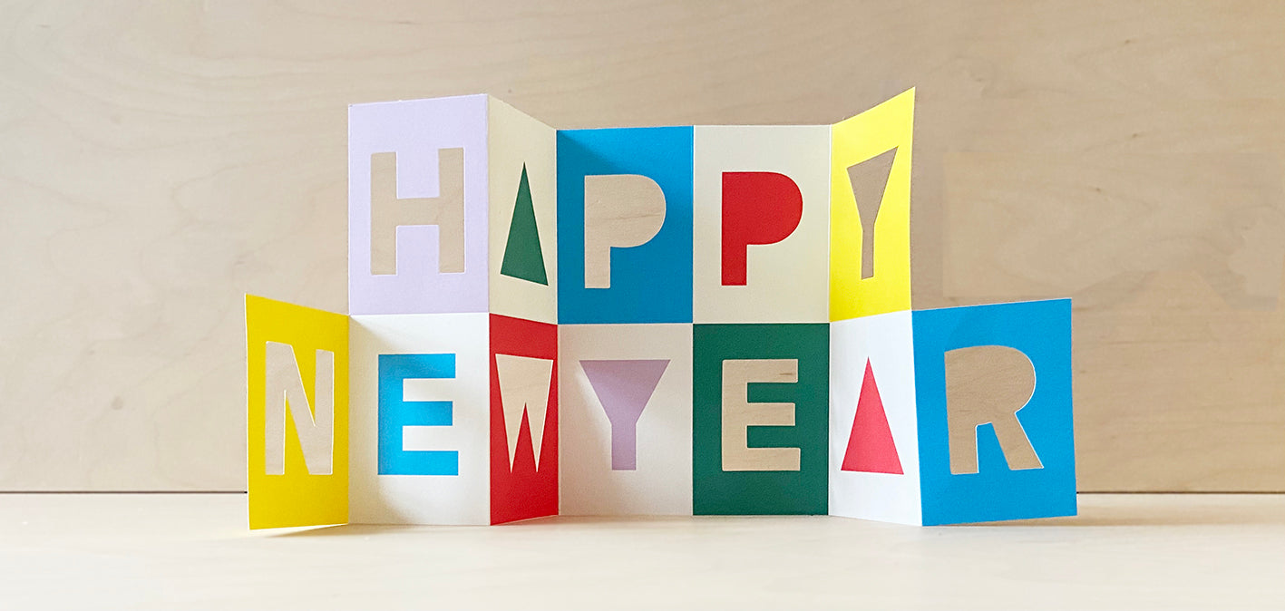 Happy New Year fold out card