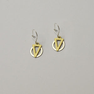 K1 earrings on grey