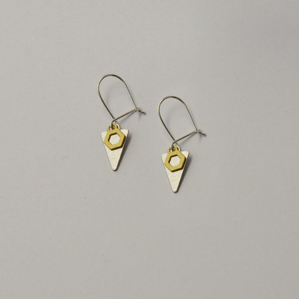 K2 earrings on grey