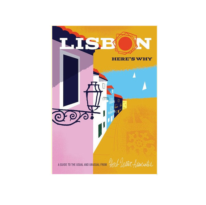 Lisbon illustrated guide map