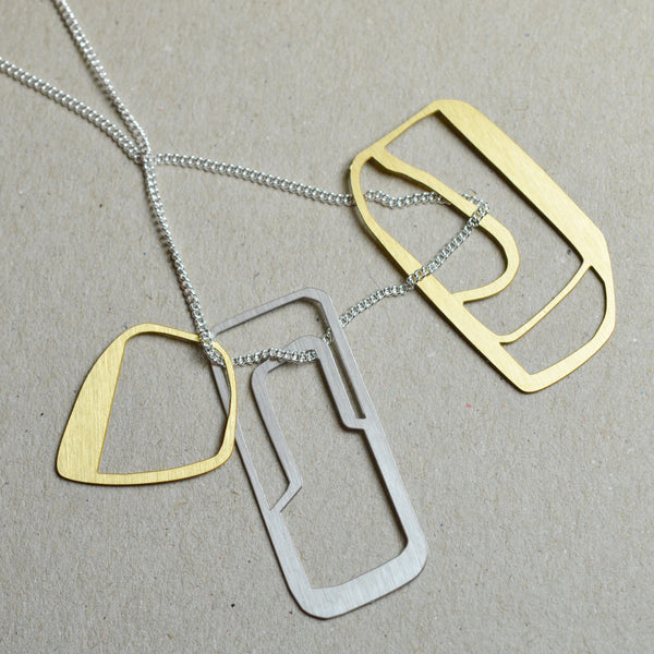 Strato: Abstract sketch necklace