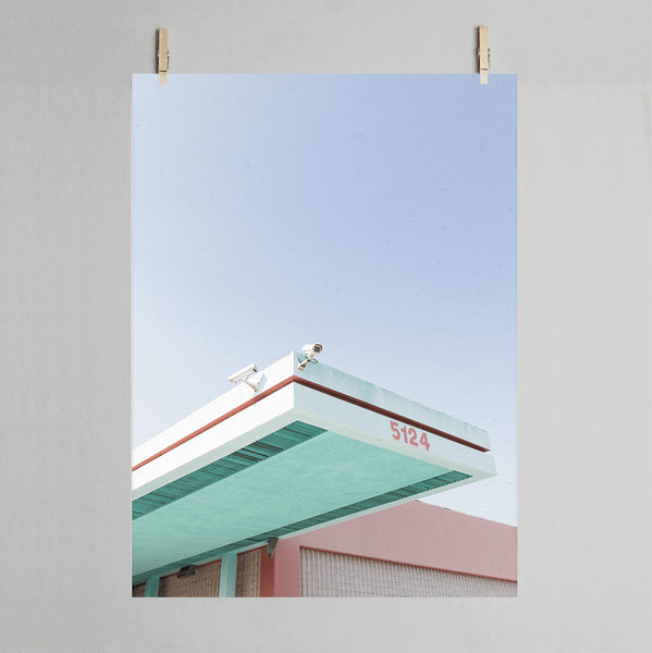 Los Angeles photographic print on wall