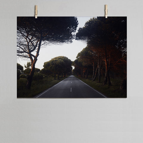 Road photographic print