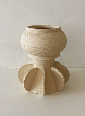 Two-part Sand Stoneware Pot - NB6