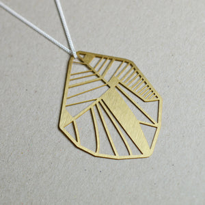 Folio: Abstract Botanical Necklace Brass