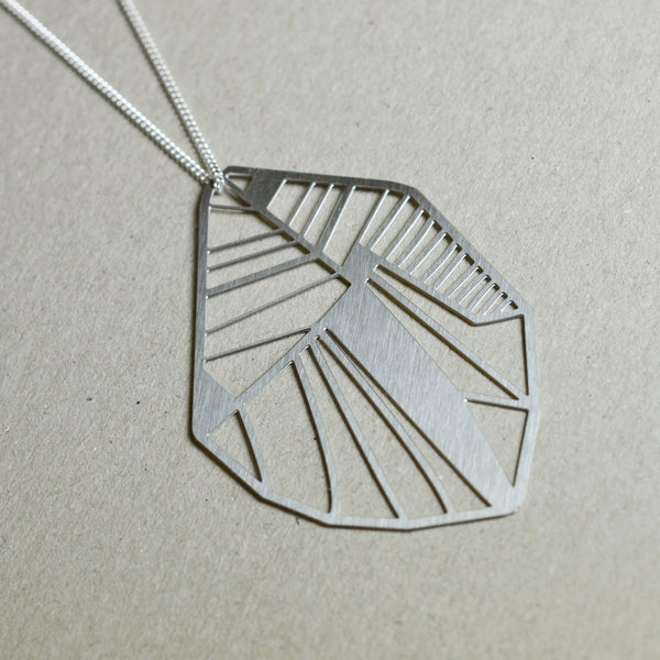 Folio: Abstract Botanical Necklace Steel
