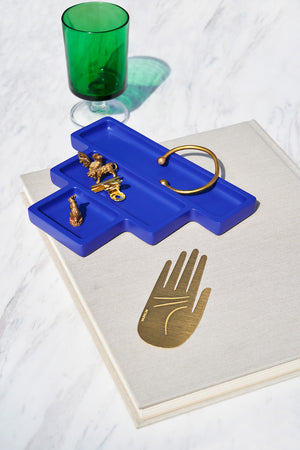 Blue desk tidy / trinket catchall