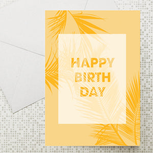 Palm leaf Birthday card