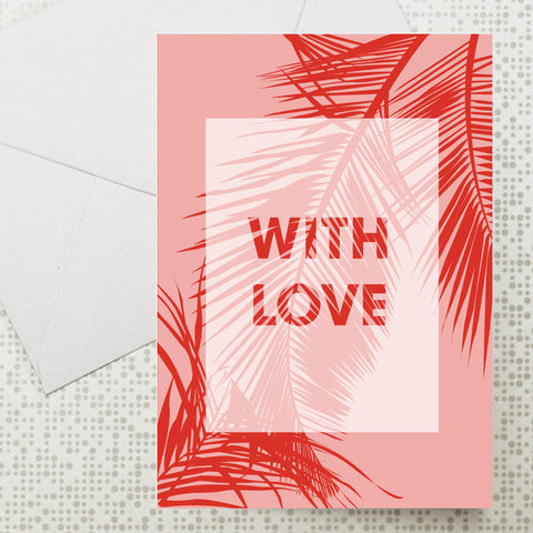 Palm leaf With Love card