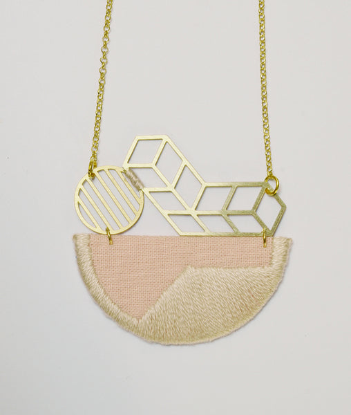 Horizon - Pink composition pendant