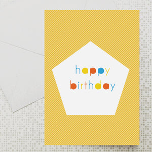 Polygon Birthday card
