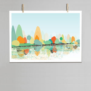 Sheffield Park Lake print