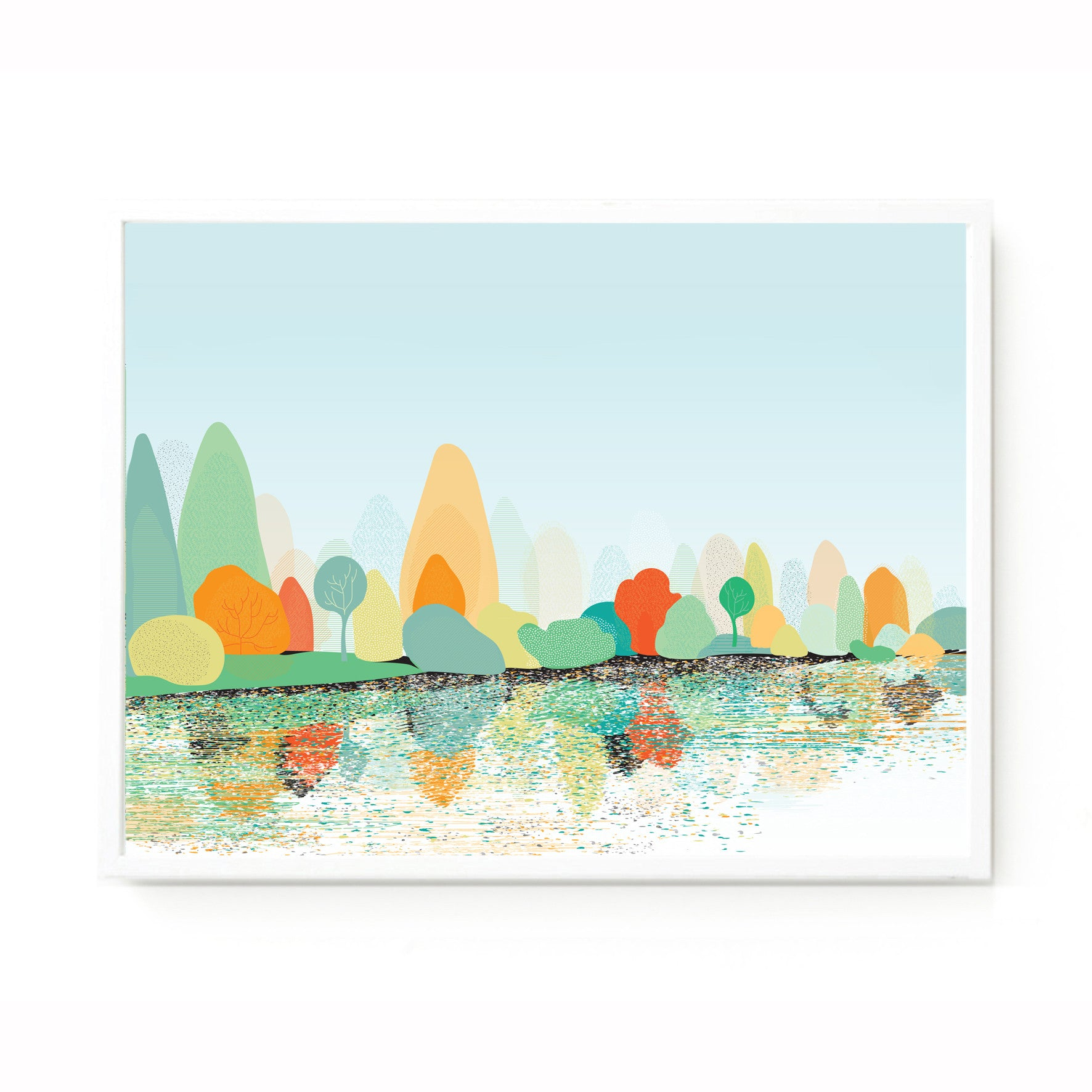 Sheffield Park Lake print framed