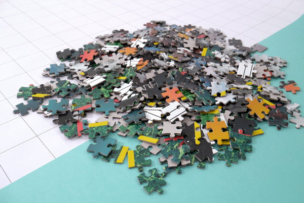 Fire- Handcrafted Jigsaw puzzle pieces