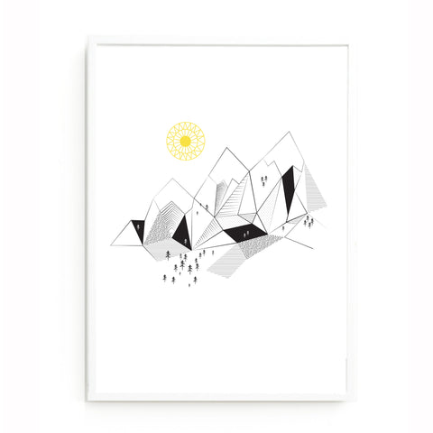 Mountain range print
