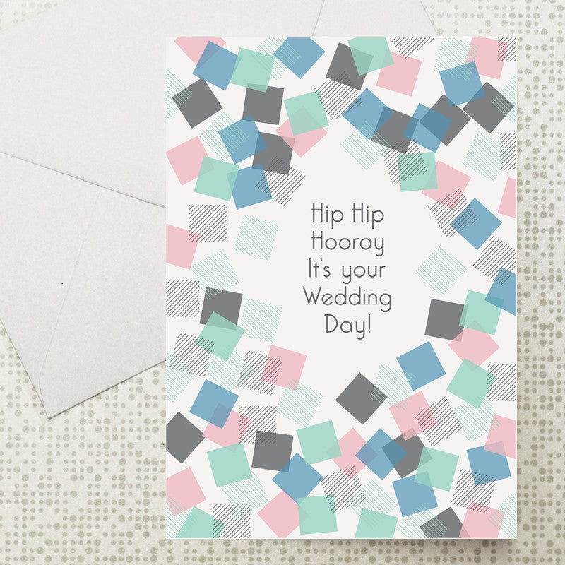 Confetti Wedding card