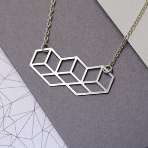 Kubisk Necklace Steel