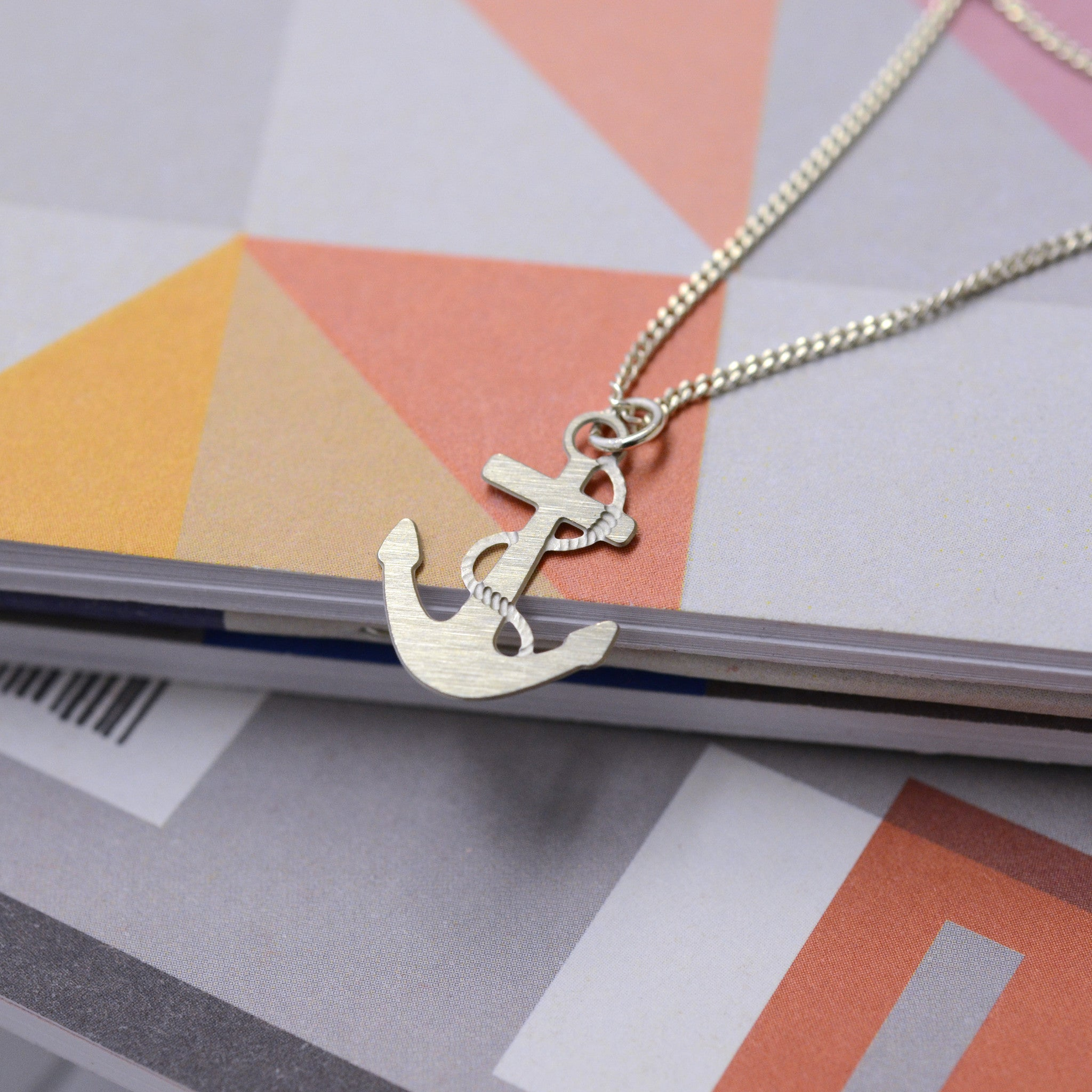 Dulcie Anchor Necklace on Steel