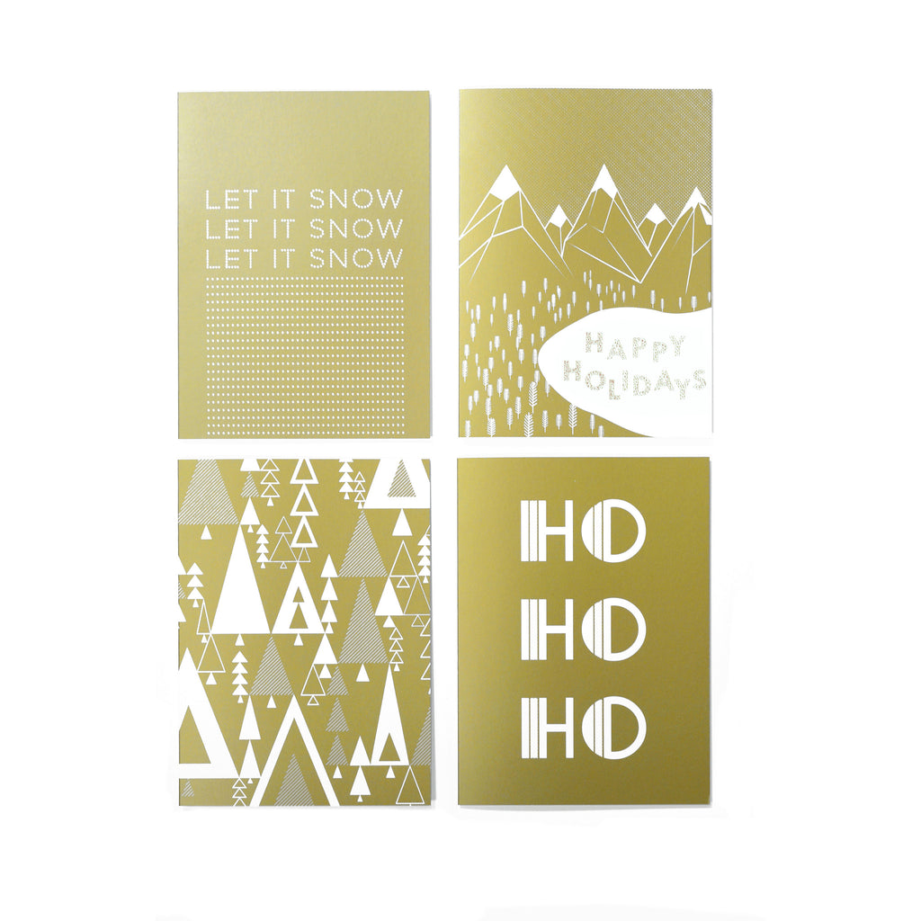 Gold Christmas card pack WAS £16 NOW