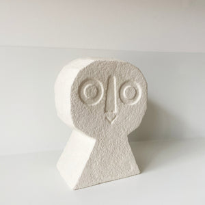 Flat Head - handmade ceramic sculpture