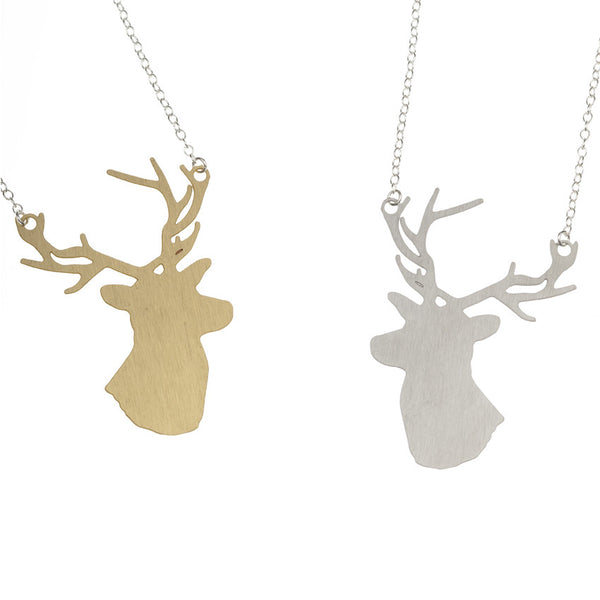 Ida Stag Necklace brass and steel