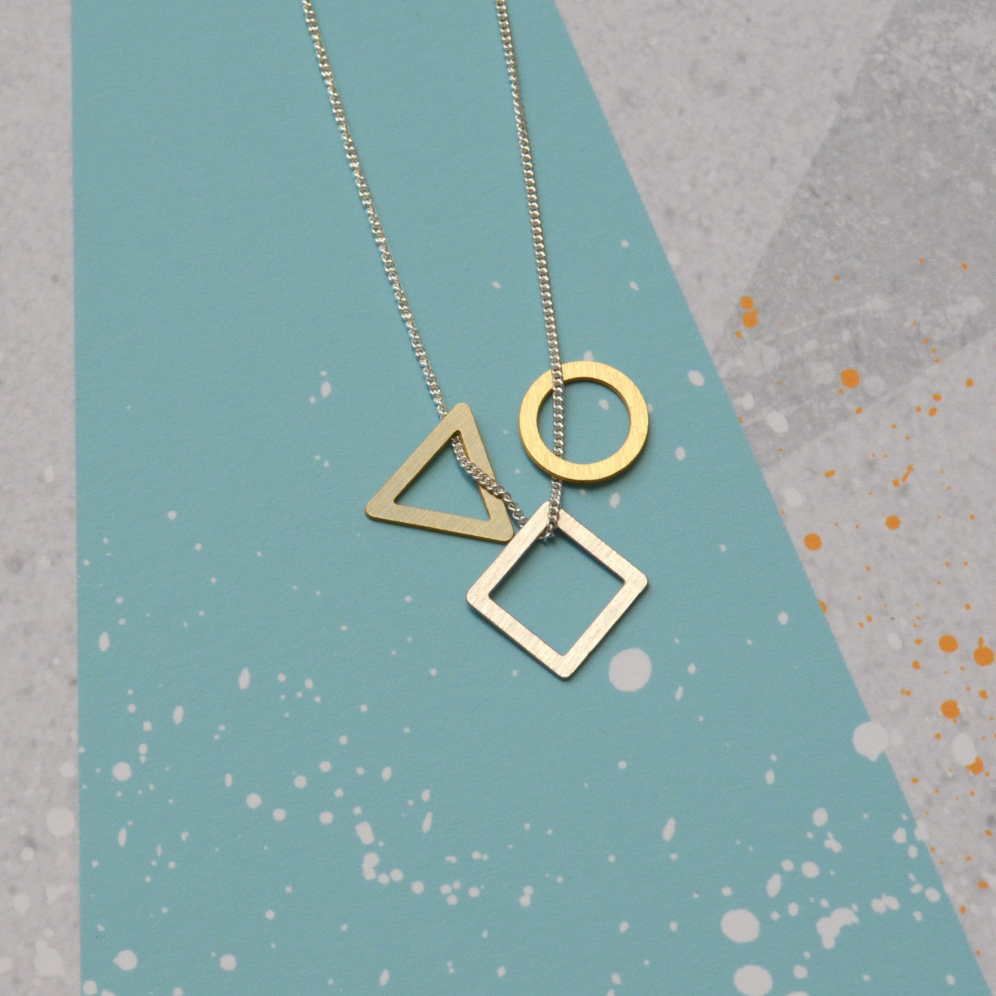 Mini geo necklace