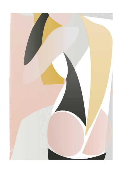 Abstract Nude print
