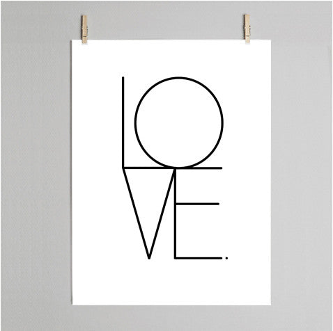 Love print on wall