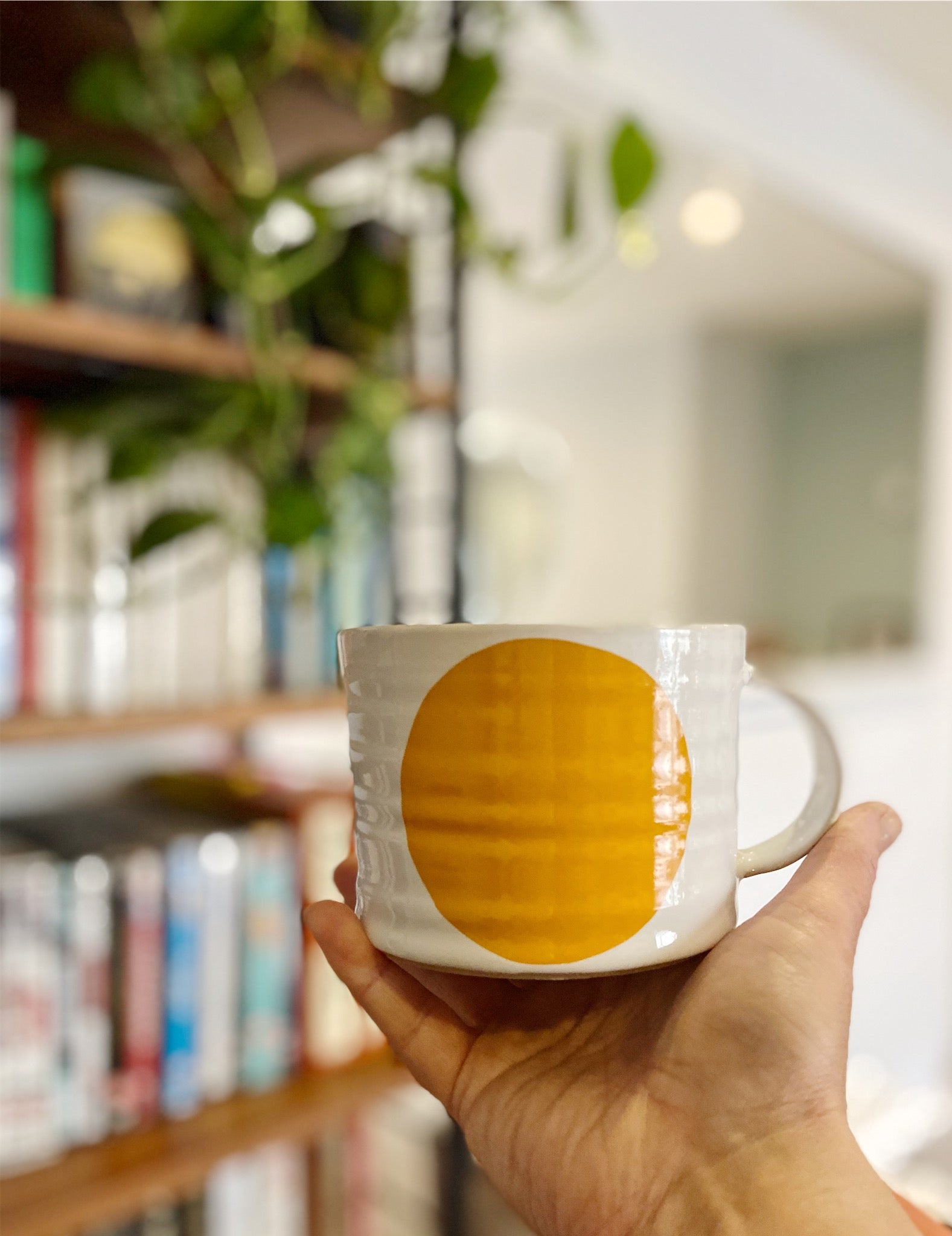 Large handmade Dot Mug