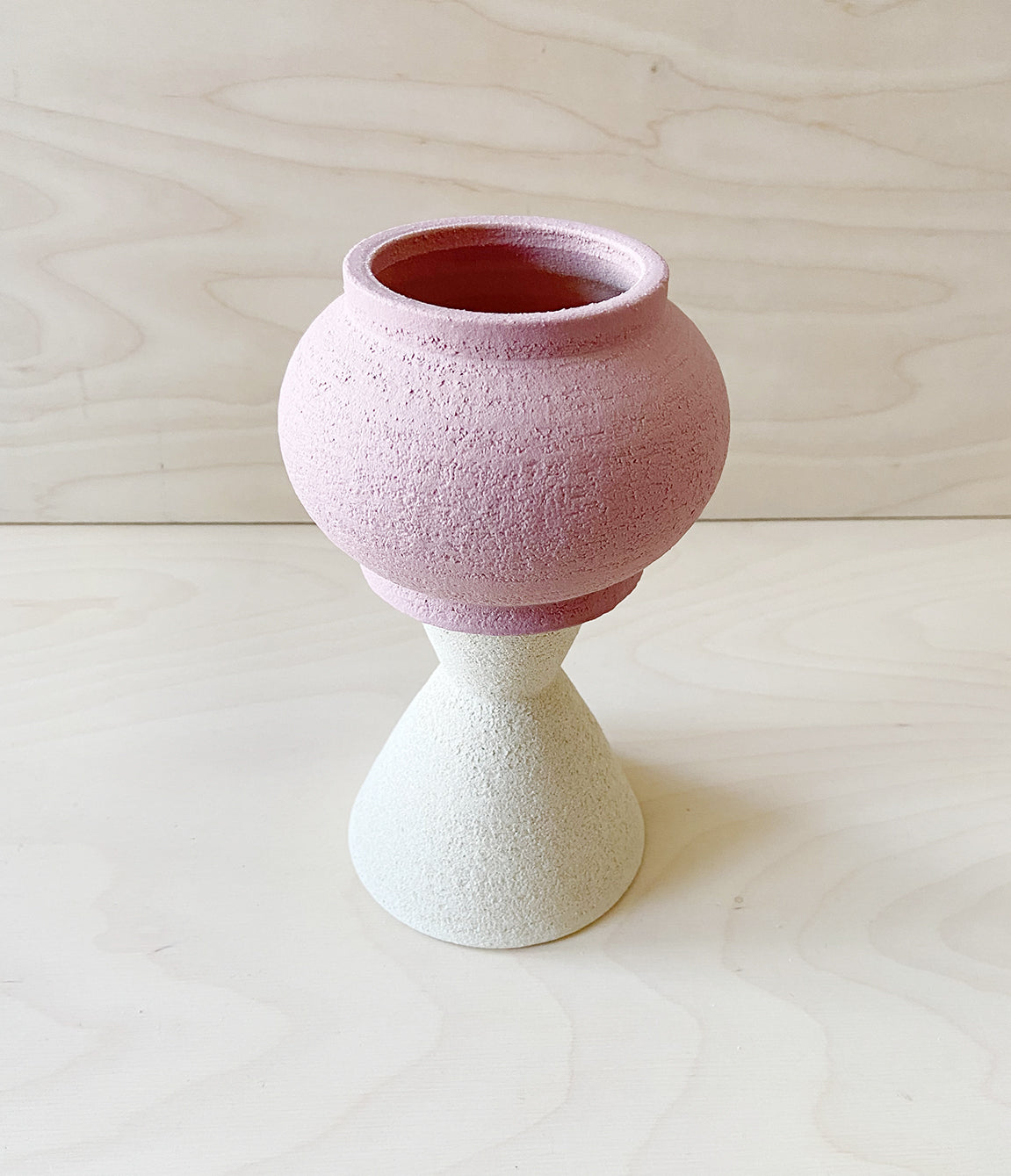 Sand & Pink handmade two part plant pot