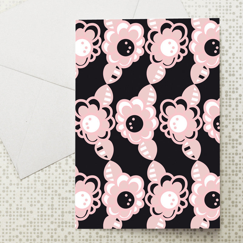 Pop Art flower card