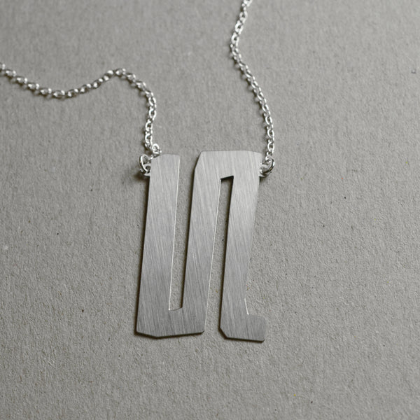 Scratch abstract necklace