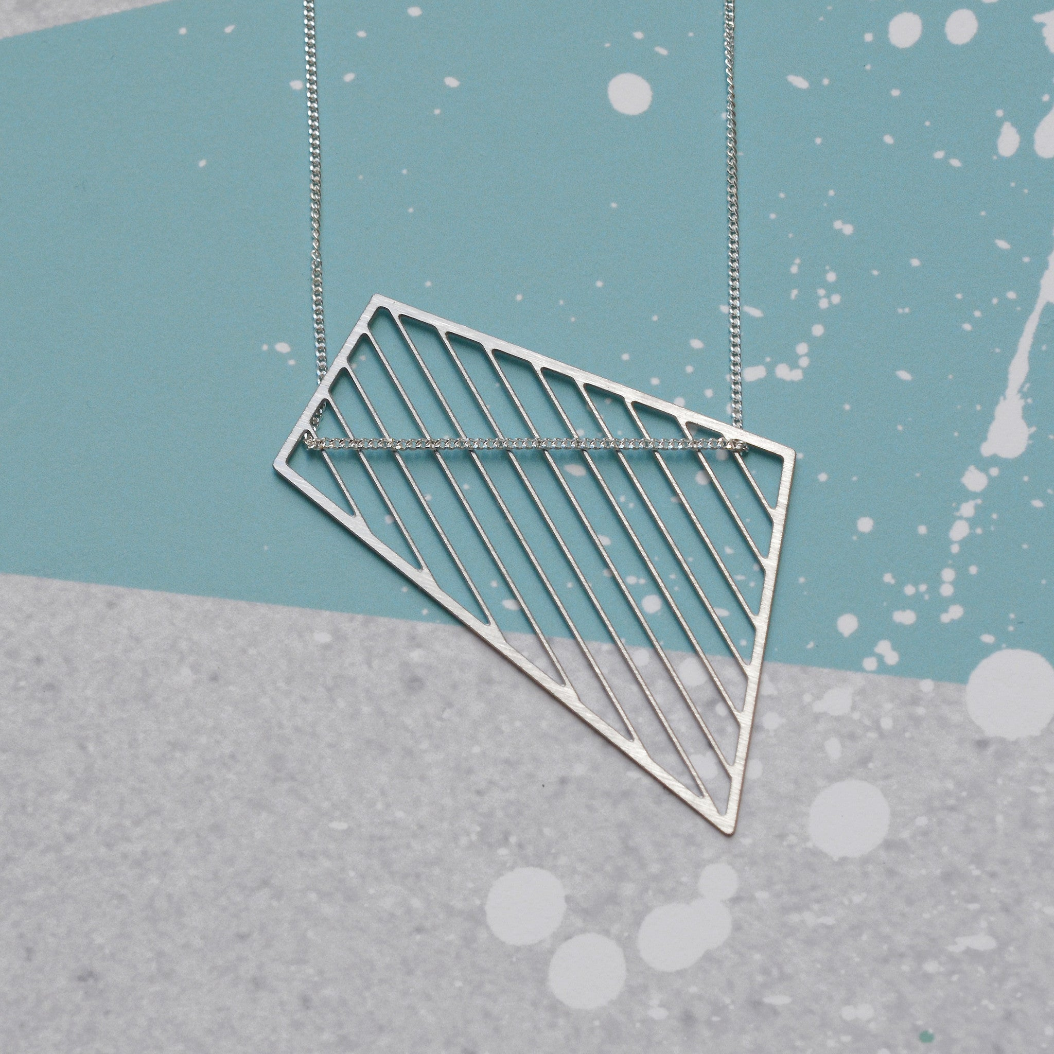 Abstract shard necklace - steel