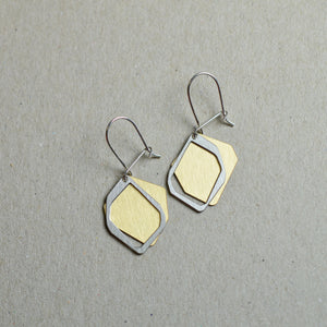 Couche: Abstract sketch layered earrings