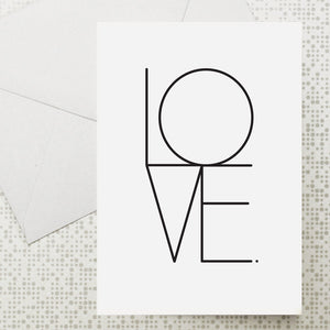 Typographic LOVE card