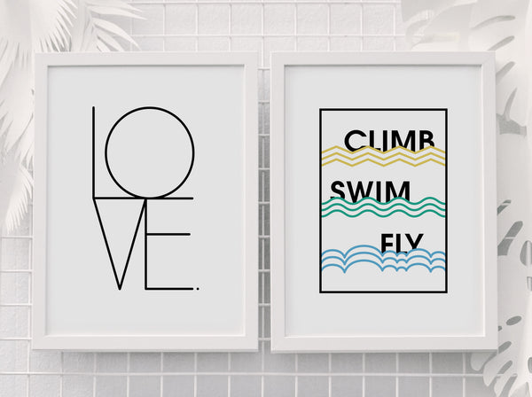 Love print framed