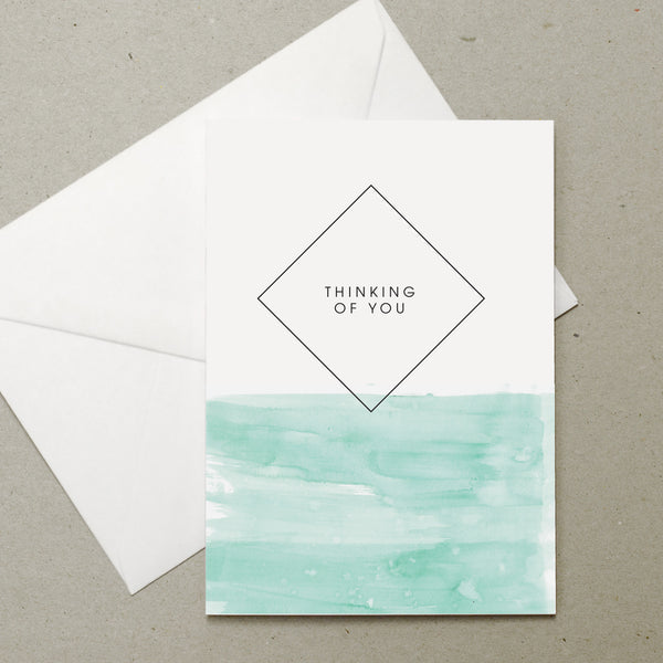Watercolour Thinking of You card
