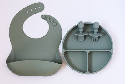 Sage Green Mealtime Gift Set - Simply Toofers