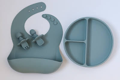 Slate Blue Mealtime Gift Set - Simply Toofers