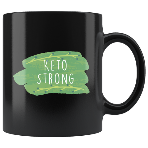 Keto Strong - Black 11oz Keto Mug
