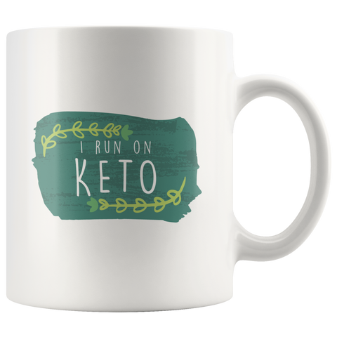 Image of I Run On Keto - White 11oz Keto Mug