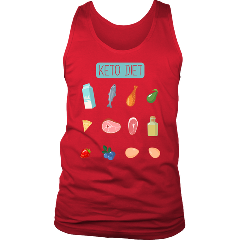 Image of Keto Diet Food Groups - Mens Tank