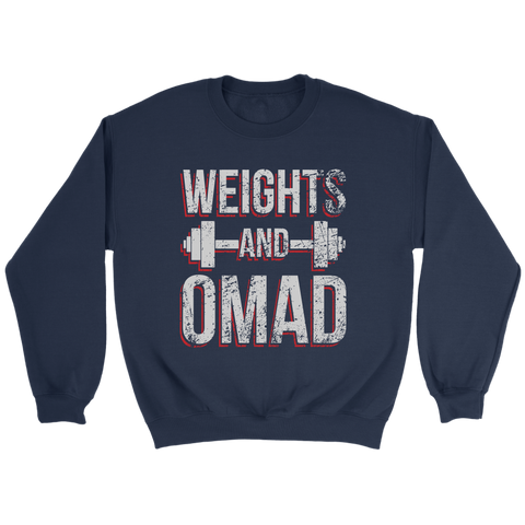 Image of Weights And OMAD - Crewneck Sweatshirt
