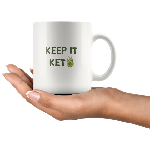 Image of Keep It Keto - White 11oz Keto Mug