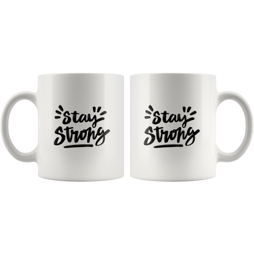 Stay Strong - White 11oz Keto Mug