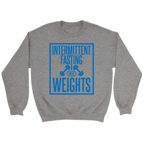 Image of Intermittent Fasting With Weights - Crewneck Sweatshirt