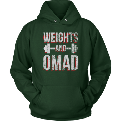 Image of Weights And OMAD - Unisex Hoodie